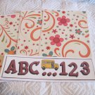 ABC 123 Bus - 4pc Mat Set