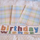 Birthday Wishes b - 4pc Mat Set