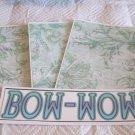 Bow Wow a - 4pc Mat Set