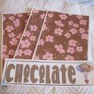 Chocolate Tootsie a - 4pc Mat Set