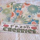 Fresh Cherries a - 4pc Mat Set