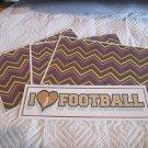 I Love Football a - 4pc Mat Set
