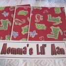 Momma's Little Man a - 4pc Mat Set