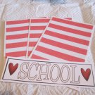 School w/Heart b - 4pc Mat Set