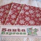 Santa Claus Express b - 4pc Mat Set