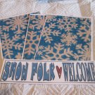 Snow Folk Welcome b - 4pc Mat Set