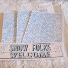 Snow Folke Welcome a - 4pc Mat Set