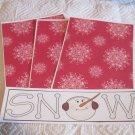 Snow Snowman a - 4pc Mat Set
