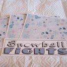 Snowball Fights a - 4pc Mat Set