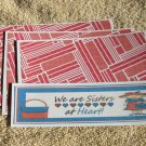 We Are Sisters At Heart - 4pc Mat Set