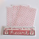 You'll Always Be In My Heart a - 4pc Mat Set