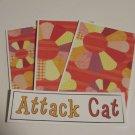 Attack Cat a - 4pc Mat Set