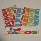 I Love Tacos - 4pc Mat Set