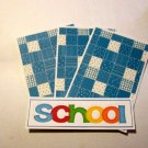 School ab - 4pc Mat Set