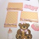 Baby Girl Bear a3 - Printed Piece/Title & Mats set
