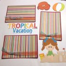 Tropical Vacation Girl a3 - Printed Piece/Title & Mats set