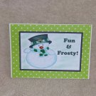 """Fun and Frosty - 5x7"""" Greeting Card with envelope"""