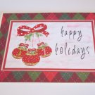 """Happy Holidays Ornaments - 5x7"""" Greeting Card with envelope"""