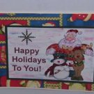 "Happy Holidays To You - 5x7"" Greeting Card with envelope"