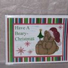 "Have A Beary Christmas 2a - 5x7"" Greeting Card with envelope"