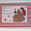 "Have A Beary Christmas Bear w/Tree  - 5x7"" Greeting Card with envelope"