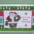 "Ho Ho Ho Merry Christmas Red Santa a - 5x7"" Greeting Card with envelope"