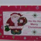 "Ho Ho Ho Merry Christmas Red Santa - 5x7"" Greeting Card with envelope"