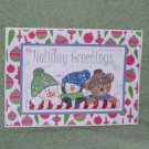 "Holiday Greetings Buddies - 5x7"" Greeting Card with envelope"