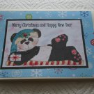 "Merry Christmas And Happy New Year Panda b - 5x7"" Greeting Card with envelope"