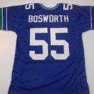 Seattle Seahawks UNSIGNED CUSTOM Brian Bosworth Blue Jersey - XL