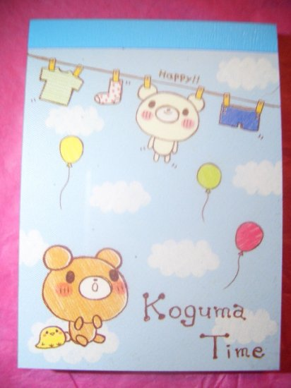 "Crux  ""Koguma Time"" Kawaii mini memo pads"