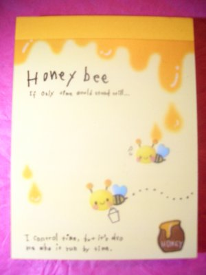 "Q-Lia ""Honey Bee"" kawaii mini memo pad"
