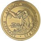 2016 1/2 Gram Somalian Gold Elephant Coin (BU)