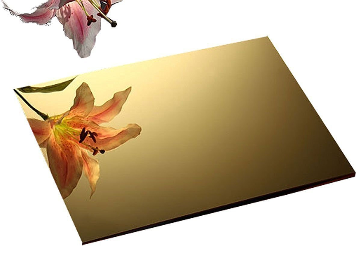 Acrylic Plastic Mirrored Sheet Wall Gym Vanity Garden Safety Mirror 12x12 Gold