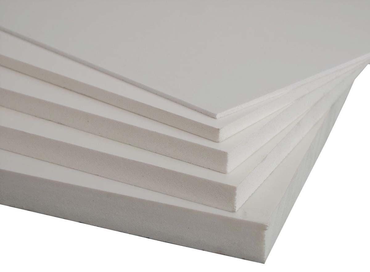 PLASTIC PVC FOAM BOARD SHEET USED IN CRAFTS MODELING BILLBOARDS 24X48 19MM WHITE
