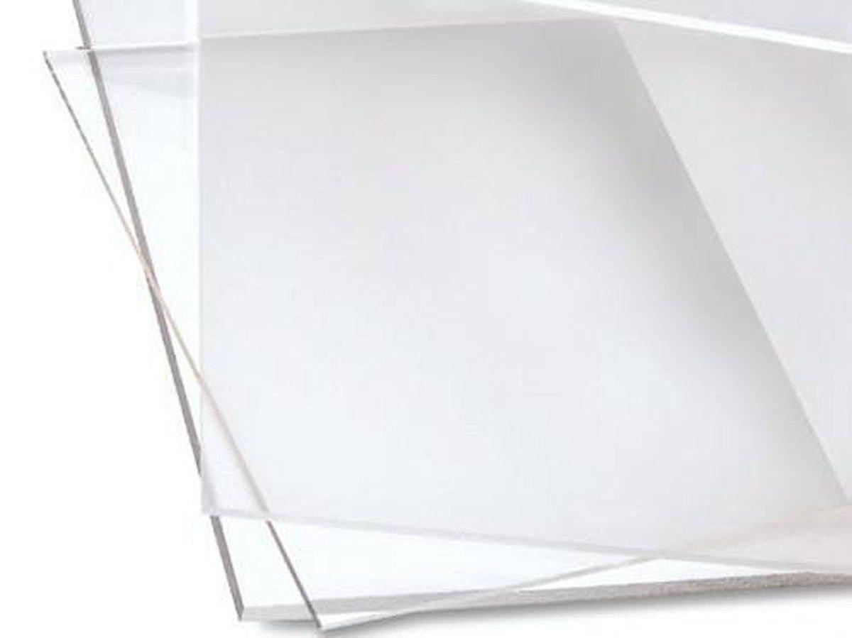PLEXIGLASS ACRYLIC CUSTOM CUT SHEET USED IN DISPLAY CASE FRAME 24X24 3MM Clear