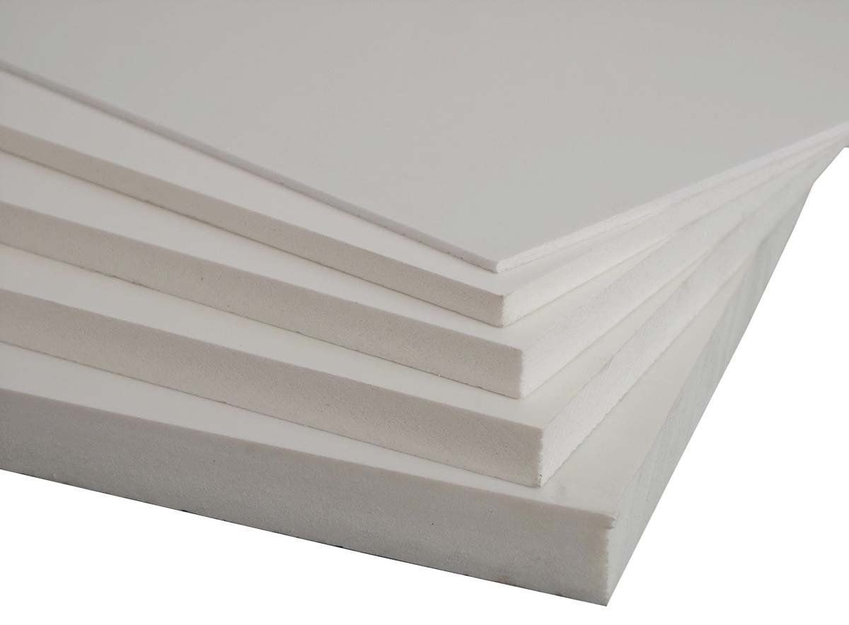 PLASTIC PVC FOAM BOARD SHEET USED IN TOILET CUBICLES PROTOTYPES 24X48 25MM White