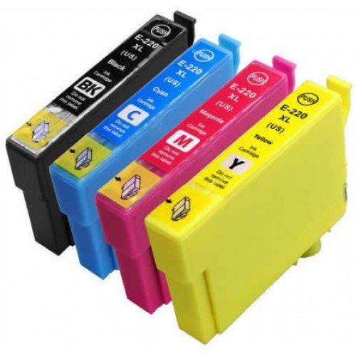 4 Pack Epson 220XL ink, XP-320, XP-420, XP-424, WF-2630, WF-2650, WF-2660