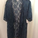 Lularoe Blue Gray Lace Monroe Jacket Kimono NEW NWT Size Small S NEW NWT