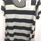 Lularoe Classic T Size XL Black and Gray Stripe NEW NWT
