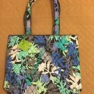 Vera Bradley CAMOFLORAL TOTE Bag NWT NEW! Blue Teal Gray Royal