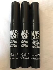 Lot of 3 the Balm Mad Lash Black Mascara Travel Size 2.5ml/.08 fl oz IPSY NEW