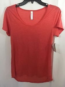 Lularoe Heathered Coral Classic T Size XS Stretchy NEW NWT
