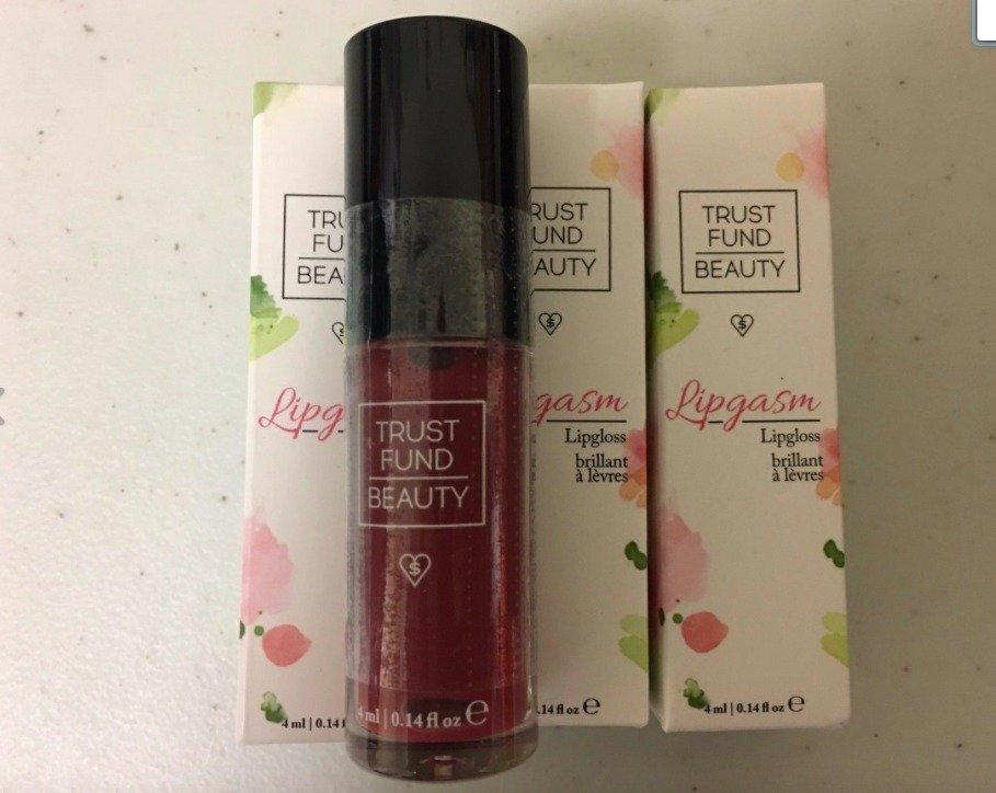 3 X Trust Fund Beauty LIPGASM Lipgloss BLAME GAME Travel 0.14 fl.oz NEW