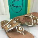 Jack Rogers Napa Valley Flip Flop Cork White Size 6.5 M NEW Sandals Shoes