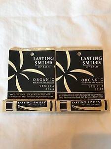 2 Lasting smiles lip balm organic vanilla bean fast shipping amazing brand NEW