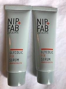 Lot of 2 Nip + Fab Glycolic Fix Serum Exfoliate Travel Size .06 oz 20 ml IPSY