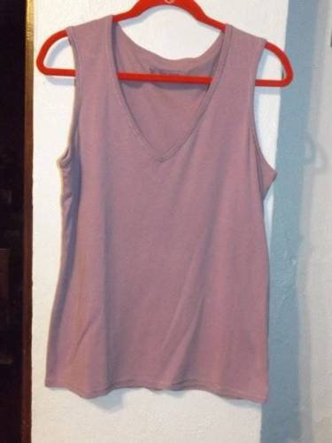 Have one to sell? Sell now Details about  Ladies XL TEE SHOP Light PURPLE VNECK Tank TOP SHIRT