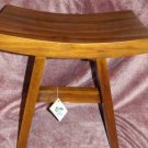 INDONESIA TEAK ASIAN Bench NEW IN BOX SHOWER SPA SOLID VERY NICE