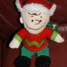 Wish You Merry Christmas Sings PLUSH Charlie Brown DOLL NEW
